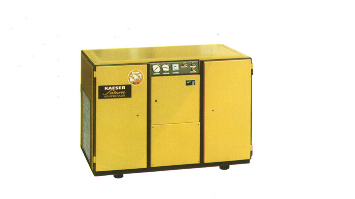 The first screw compressor from Kaeser in 1979