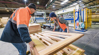 Doors being manufactured at Hume Doors in Sydney